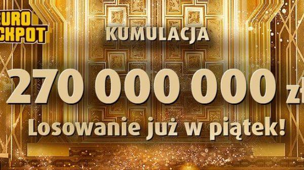 270 000 000 zł w eurojackpot